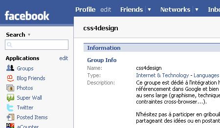 css4design sur Facebook