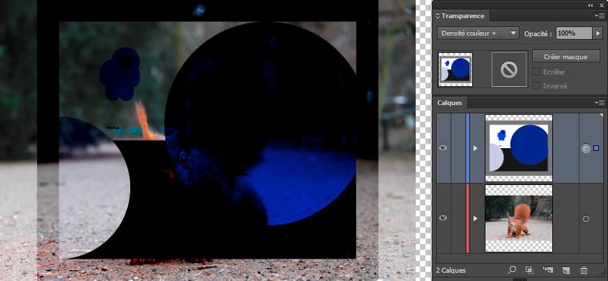 Mode de fusion Densité couleur +