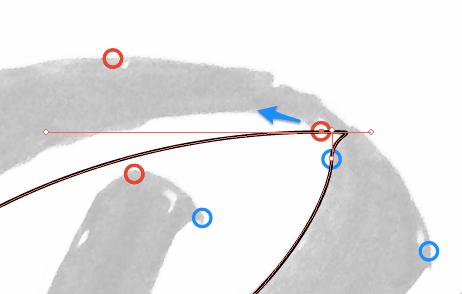 Déplacer les points d'ancrage peut régler les problème de placemenet de points d'ancrage