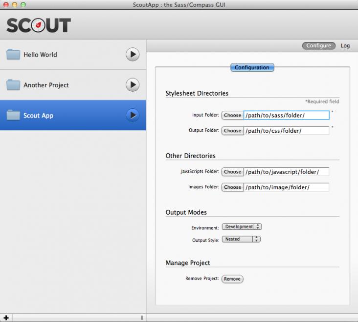 Configuration de Scout