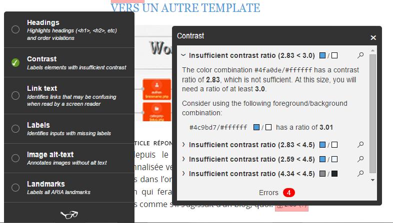 Script tota11y pour vérifier l'accessibilité des sites web