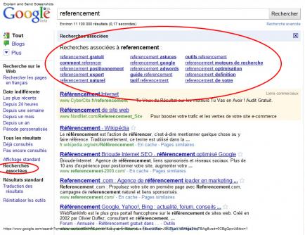 Les recherches associées proposées par Google vont plus loin que Google Suggest