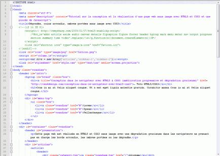 Exemple de code HTML
