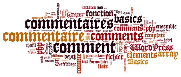 WordPress de A à Z Nuage de mots-clés D comme discussion