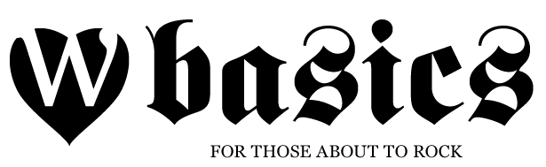Un logo Gothic Back in Black avec Fette Fraktur