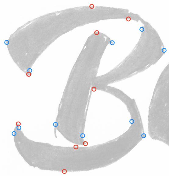 Placement des points d'ancrage dans Illustrator