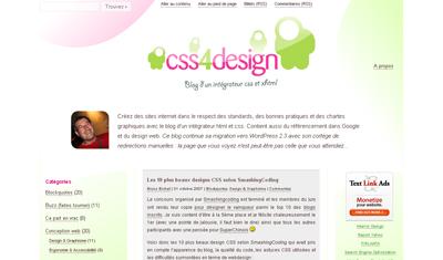 Capture d'écran de mon ancien design